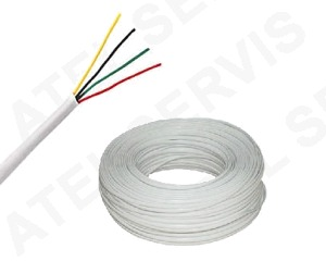 Telefonní příslušenství Kabel telefonní bílý 4 ž