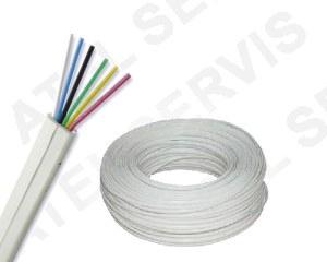Telefonní příslušenství Kabel telefonní bílý 6 ž
