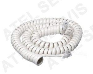 Telefonní příslušenství Kroucená šňůra 4m - bílá