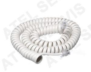 Telefonní příslušenství Mikrotelefonní šňůra kroucená 4m - bílá