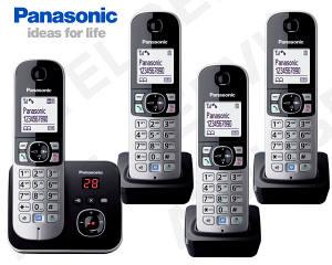 Bezdrátový telefon Panasonic KX-TG6821FXB QUATTRO