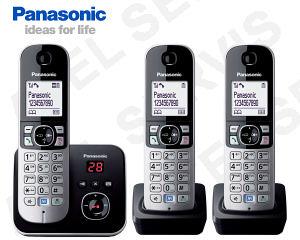 Bezdrátový telefon Panasonic KX-TG6821FXB TRIO