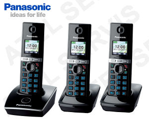 Bezdrátový telefon Panasonic KX-TG8051FXB TRIO