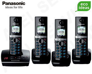 Bezdrátový telefon Panasonic KX-TG8061FXB QUATTRO