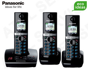 Bezdrátový telefon Panasonic KX-TG8061FXB TRIO