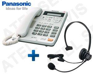 Telefon Panasonic KX-TS620FXW s náhlavní soupravou