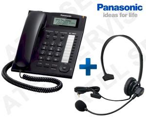 Telefon Panasonic KX-TS880FXB s náhlavní soupravou