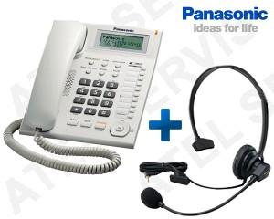 Telefon Panasonic KX-TS880FXW s náhlavní soupravou