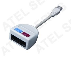 Telefonní příslušenství Rozdvojka 2xRJ45 PC+PC