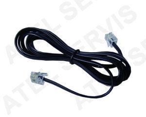 Telefonní příslušenství Telefonní kabel 2m černý