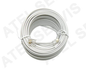 Telefonní příslušenství Telefonní kabel 50m bílý