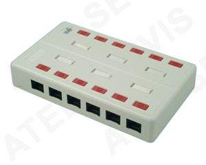 Telefonní příslušenství Zásuvkový box 12xRJ45 c5e